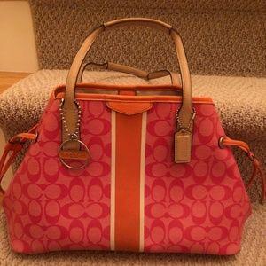 Pink and Orange Coach purse